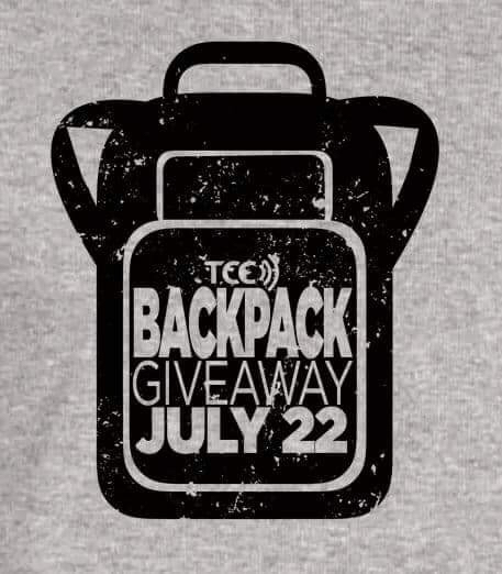 July 22 TCC backpack giveaway