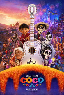 Coco movie poster. By Disney and Pixar.
