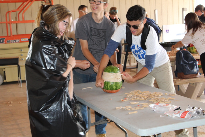High School watermelon challenge