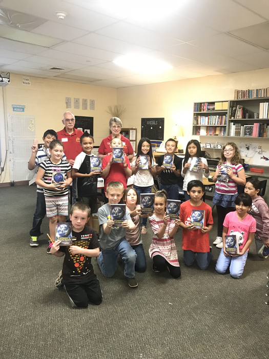 3rd Grade with new dictionaries from Chino Valley Elks Lodge!