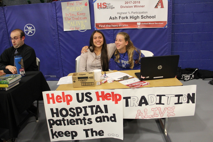 Our high school making appointments for the blood drive