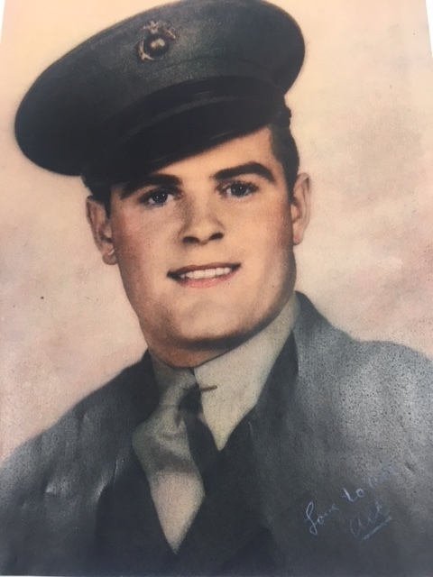 Seth Staples ,our superintendent, would like to honor his grandfather, Alt Staples, who served in World War II. Mr. Staples's grandfather fought in the battle of Iwo Jima.  During this battle 75% of his platoon was killed.  Alt survived the battle and was stationed to watch Japanese Prisoners on the island of Japan.  One of his prized possessions was a shell covered purse given to him from a Japanese family for his kindness to the people of Japan.