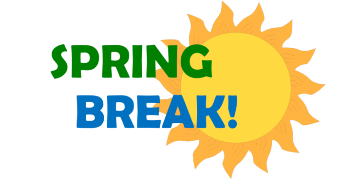 Mark your calendars!  Spring Break starts Monday March 4, 2019  School will resume on March 18th!  Enjoy your break