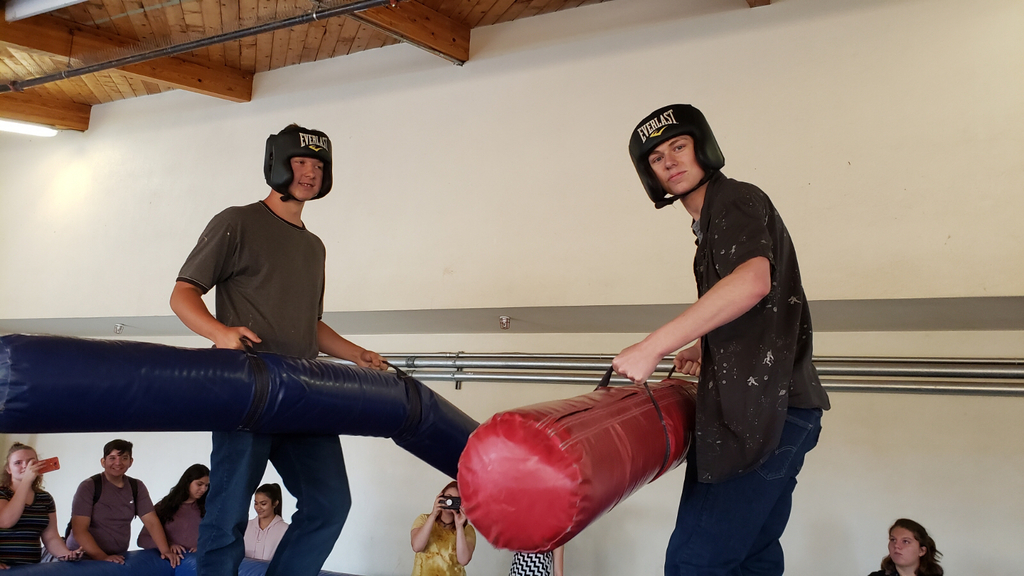 Branin Leach and Zach Hall jousting, compliments of the National guard.