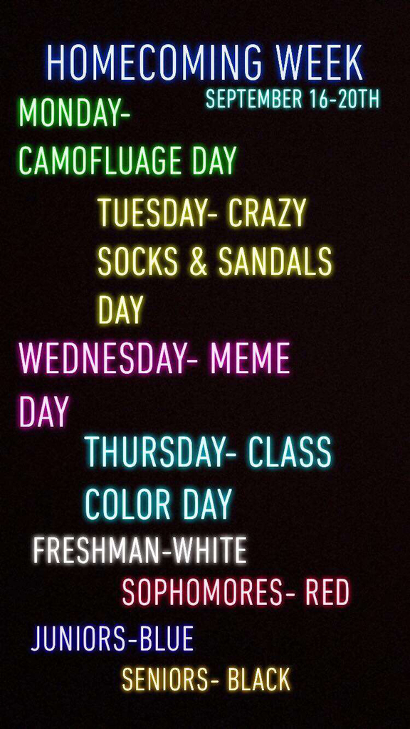 Let's show some extra school spirit this coming week!
