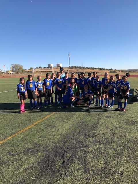 Middle School Soccer players take 2nd place in the 2019 1-40 Tournament